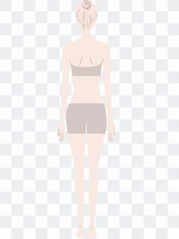 Female back model beige