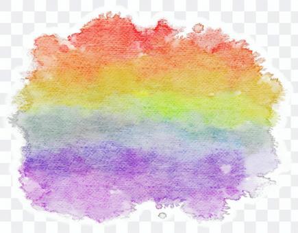 彩虹色的水彩壁紙