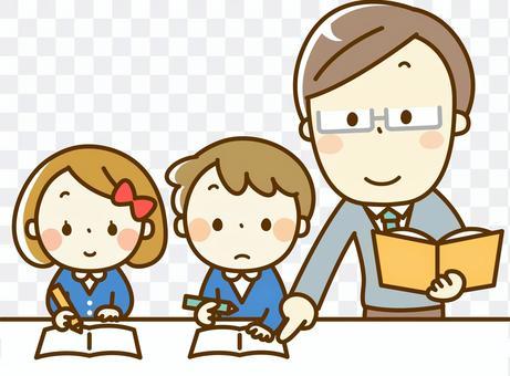 老師教孩子