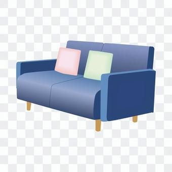 二人沙發(藍色)