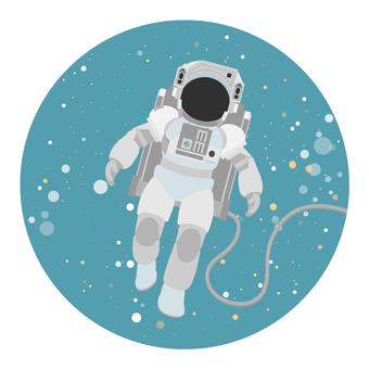 宇航員在太空游泳