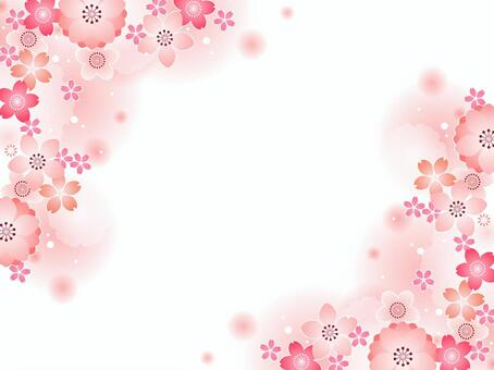 Peach and cherry background 01