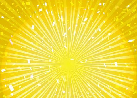 框架邊框集中線條金色背景輻射五彩紙屑壁紙