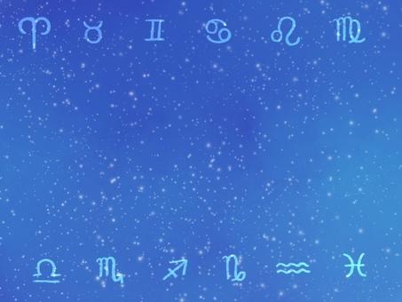 Constellation symbol frame illustration