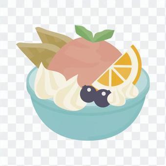 Orange gelato set