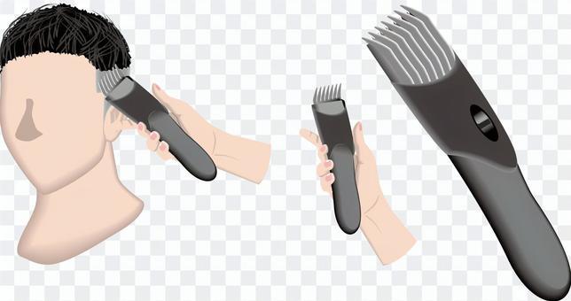 バリカン 刈る 床屋 散髪 美容院