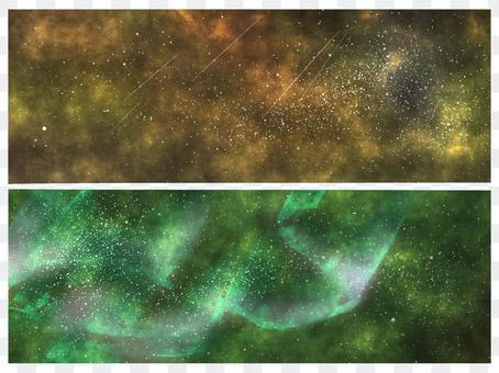 太空星空背景設置為綠色(無輪廓)