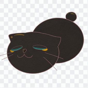 饅頭猫 黒猫