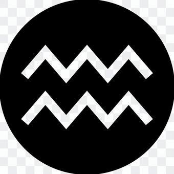 Circle icon of Aquarius mark