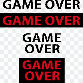 遊戲圓點角色遊戲結束