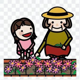 花壇の手入れ