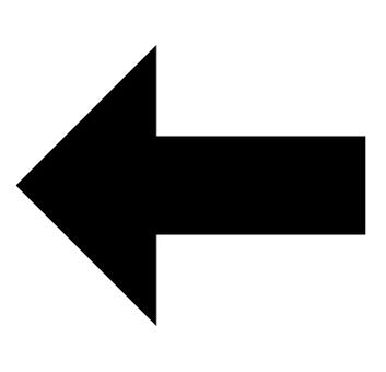 矢印 左向き