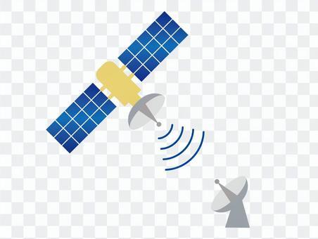 衛星和拋物面天線