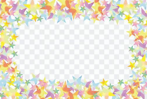 水彩星狀框架