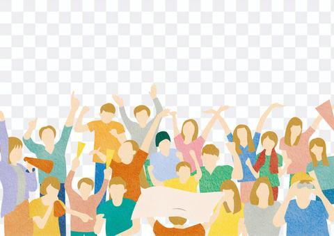 大型觀眾觀眾插圖背景