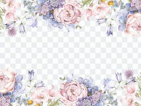 花框架213  - 大粉紅玫瑰裝飾框架