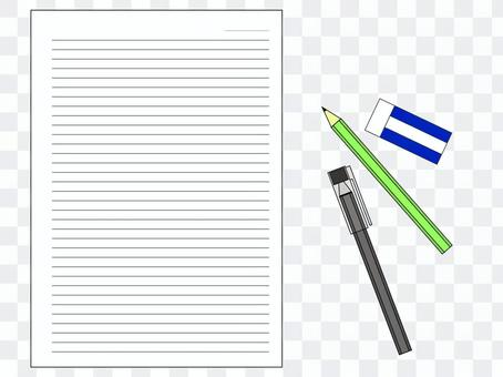 Cut writing instruments and notes
