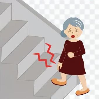 不能爬樓梯的形象(奶奶)