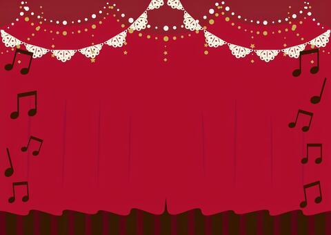 幕 パーティー 音楽 装飾 背景