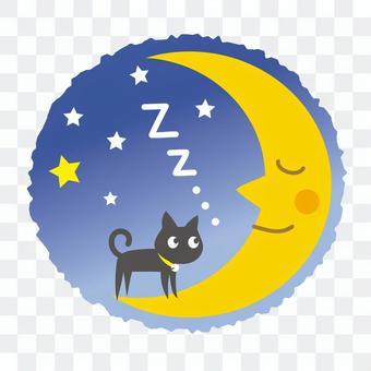 月亮和黑猫