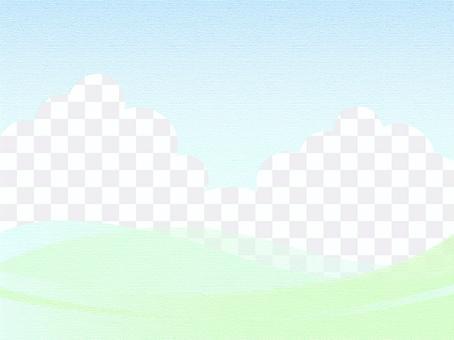 草地和天空背景柔和
