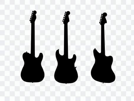 吉他剪影1