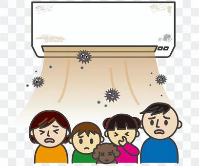 骯髒的空調和家庭