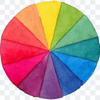 色調圈(水彩插圖)