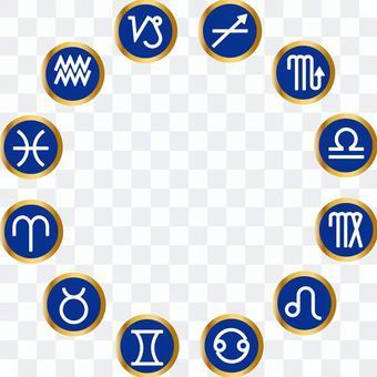 Zodiac 12 constellation icon (astrology, horoscope)