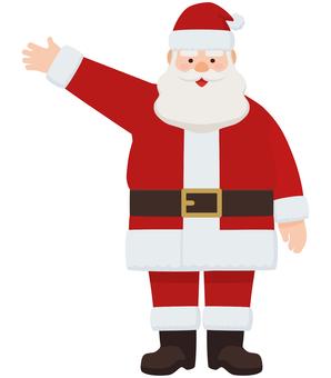 聖誕老人舉手指導姿勢