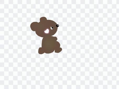 Looking up at the bear