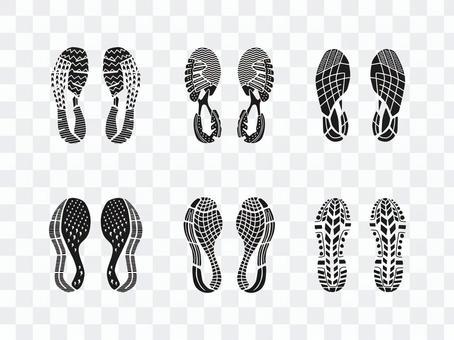 Shoe mark set 4