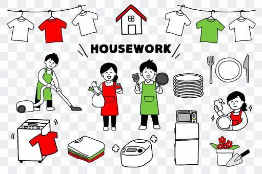 男人和女人做家務的一套(簡單)