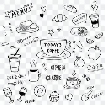 咖啡館手寫風圖