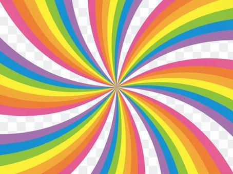 鬆散的漩渦(彩虹)
