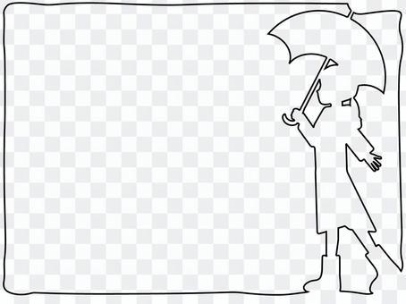 一個帶著雨傘的女孩