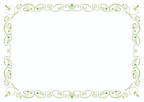 绿色花卉框架(Ver.8)