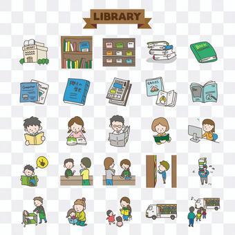 插圖的圖書館