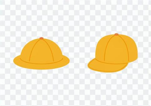 通学帽(黄色い帽子)
