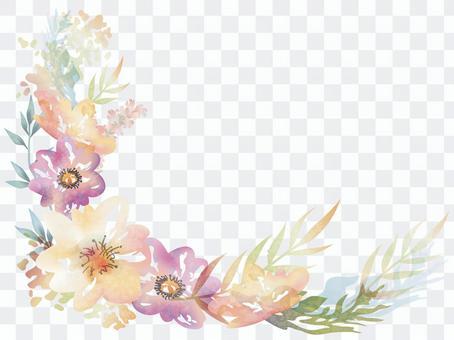 水彩花背景背景例證