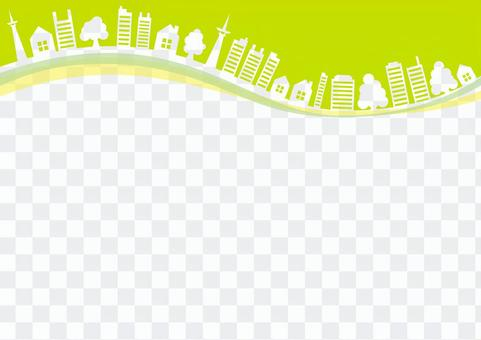 城市框架夏天綠色