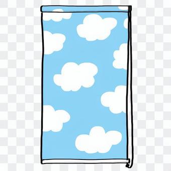 卷屏幕天藍色·手畫例證