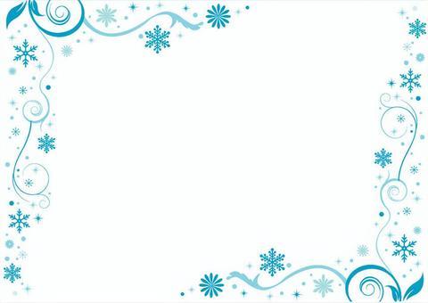 Flower snow frame