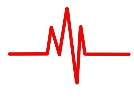 心電波形紅色