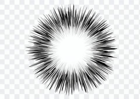 背景_濃縮線_黑白3