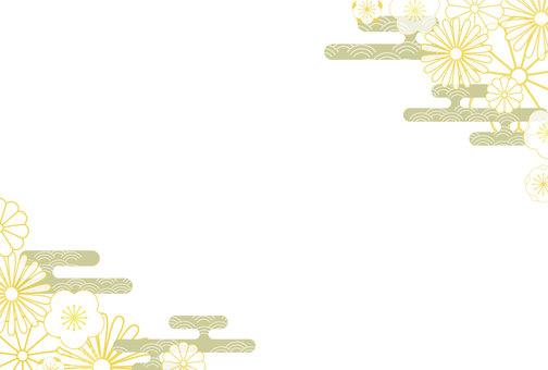 簡單可愛的日式花紋框