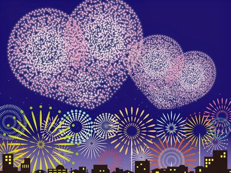 Heart's fireworks