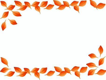 Red leaf frame (autumn leaves)