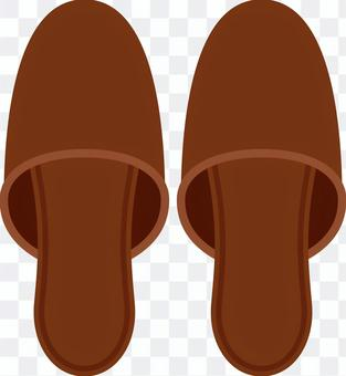 拖鞋在室內穿著鞋子