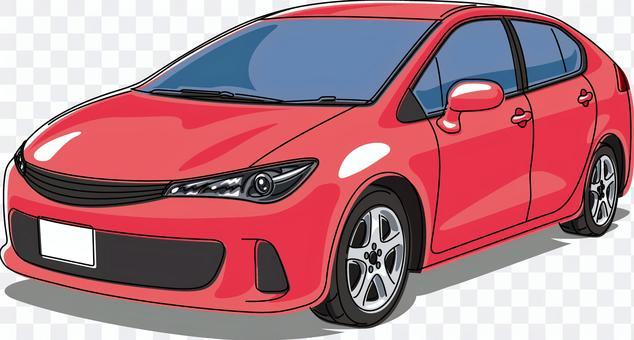 汽車乘用車線藝術紅色